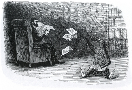 from The Doubtful Guest, a story in which this mute penguin-esque fellow invades a victorian home.