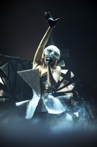 Singer Lady Gaga performs at a concert in Munich, Germany