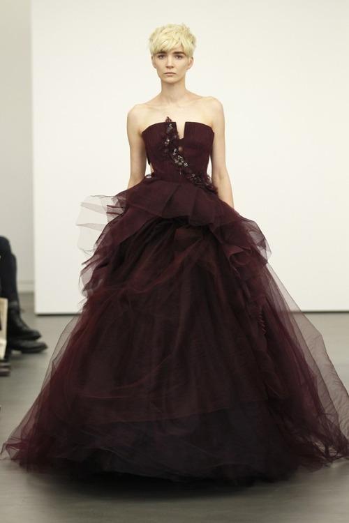 Gothy wedding dress