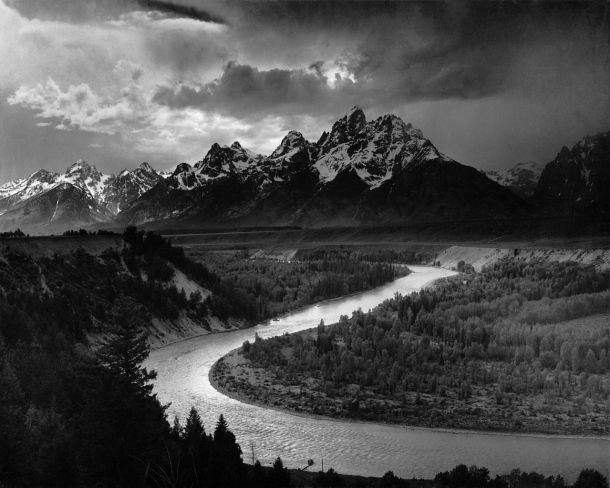 Image: The Tetons and the Snake River by Ansel Adams, from wikipedia