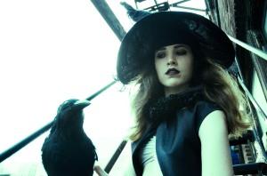 Hayley, in true Halloween spirit.