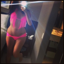 [Selfie] How can anyone's bikini body offend anyone? Especially in hot pink?