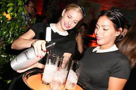 Siphonette girls pouring the Cointreau Ricky
