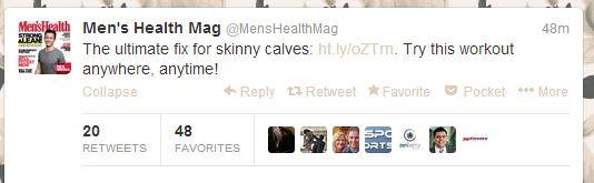 skinny calves?