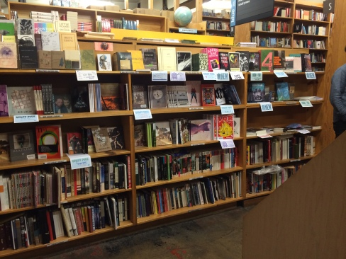 1/3 (!!!) of Powell's Books' independent publishers section (headed by Kevin Sampsell).