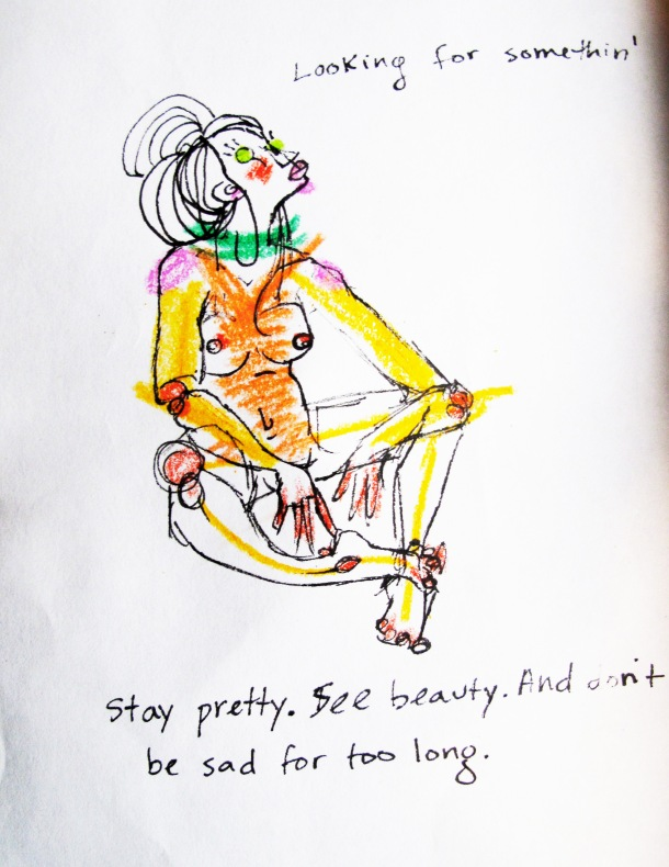 Stay Pretty: an illustration in a 3 piece series about finding oneself after getting completely lost.