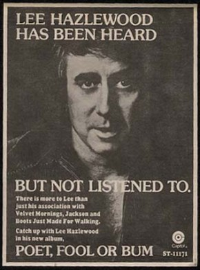 [LIT]I See Your James Franco Poems And Raise A Lee HazlewoodPoem
