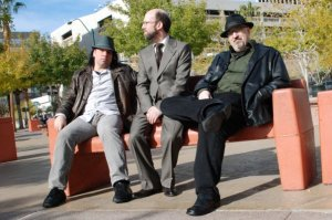 The Three Wise Guys - Carter, Figler and Crosby in downtown Las Vegas, 2009