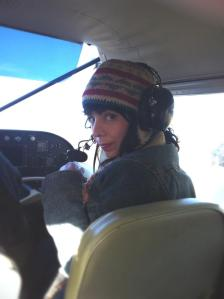 Me in the vintage Cessna, about to take off. I wasn't scared. Landing was a different story.