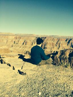 My son at the Grand Canyon - 2014