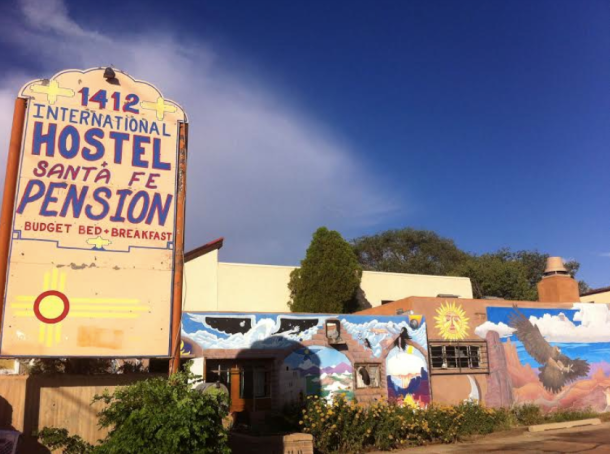 The hostel in Santa Fe