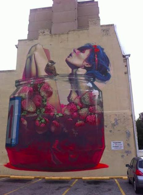 Street art on Grace Street in Richmond, VA